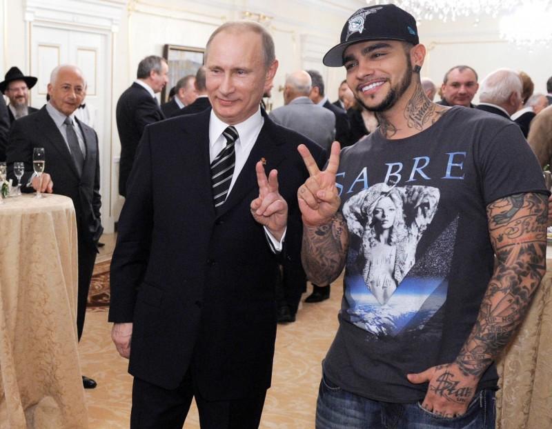 俄羅斯饒舌歌手Timati是總統普廷的「鐵粉」。(法新社)