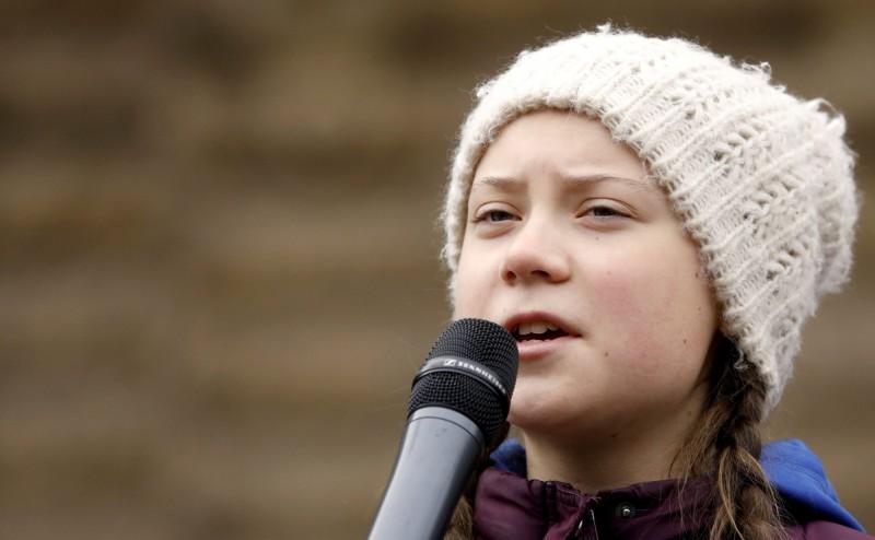 全球超過105個國家的數十萬名學生將在15日罷課抗議,呼籲政府重視氣候變遷議題,在罷課前1日,活動發起人桑柏格(見圖)被提名角逐今年的諾貝爾和平獎。(路透)