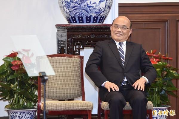 蘇貞昌回任閣揆一職,並啟動內閣改組工作。(記者叢昌瑾攝)