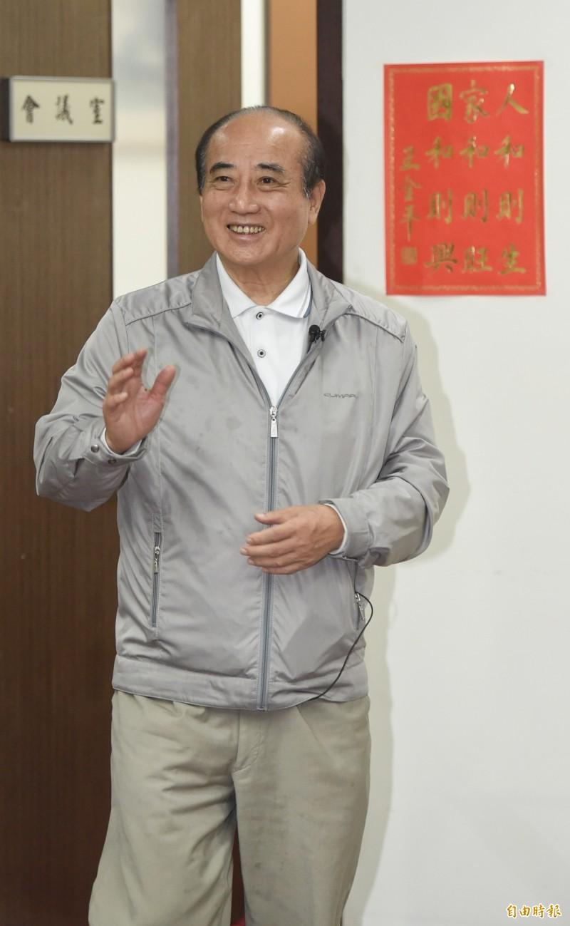 呼應韓國瑜 前立法院長王金平(圖):黨內有人私心自用弄丟政權。(記者劉信德攝)