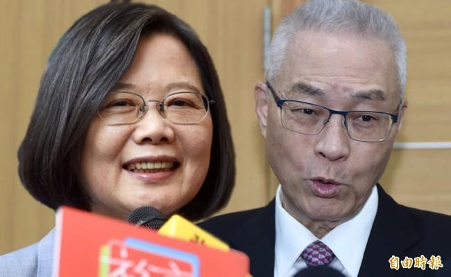 吳敦義日前在臉書轟小英為選選舉利用香港,不過蔡英文2014年就曾在臉書表達支持香港,追求民主。(資料照合成)