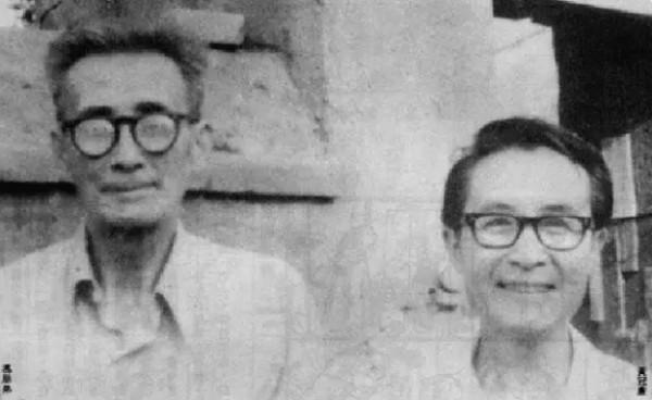 據傳《老夫子》的真正原創者是中國1930、40年代的知名漫畫家朋弟(左),尤其是他的《老夫子》在1937年至1943年的中國相當流行。(圖截自網路)