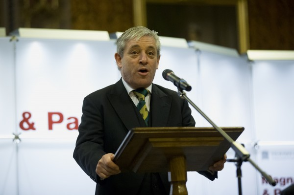 英國國會下議院議長貝爾考(John Bercow),向台駐英代表表達哀悼之意。(資料照,美聯社)
