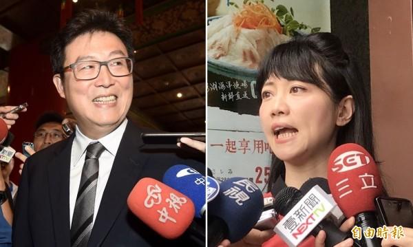 高嘉瑜(右)在政論節目透露,已與姚文智(左)通上電話。(資料照,本報合成)