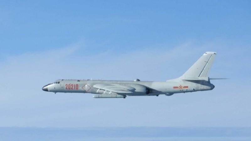 中國轟6K轟炸機。(圖:取自日本防衛省網站)
