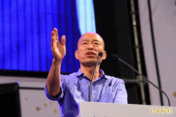 準高雄市長韓國瑜選前發豪語說,要不惜一切代價將迪士尼樂園引進高雄,昨卻對媒體表示「不是想蓋就蓋」。(資料照)