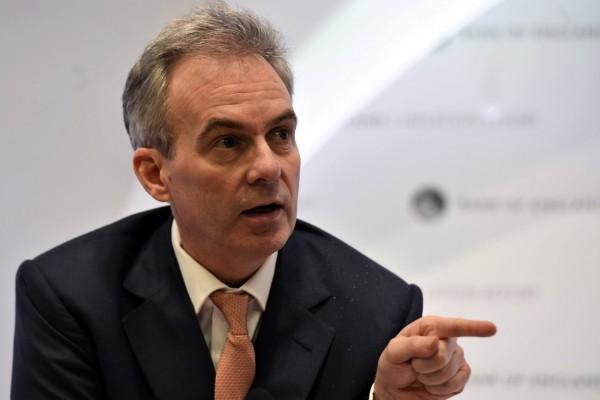 英國中央銀行「英格蘭銀行」(BOE)副總裁布羅德班特。(美聯社)