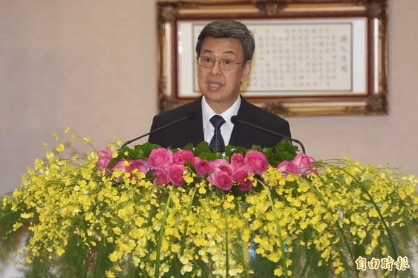 總統府今公布「國家年金改革委員會設置要點」,將聘請35到39位委員,由副總統陳建仁擔任召集人。(資料照,記者簡榮豐攝)