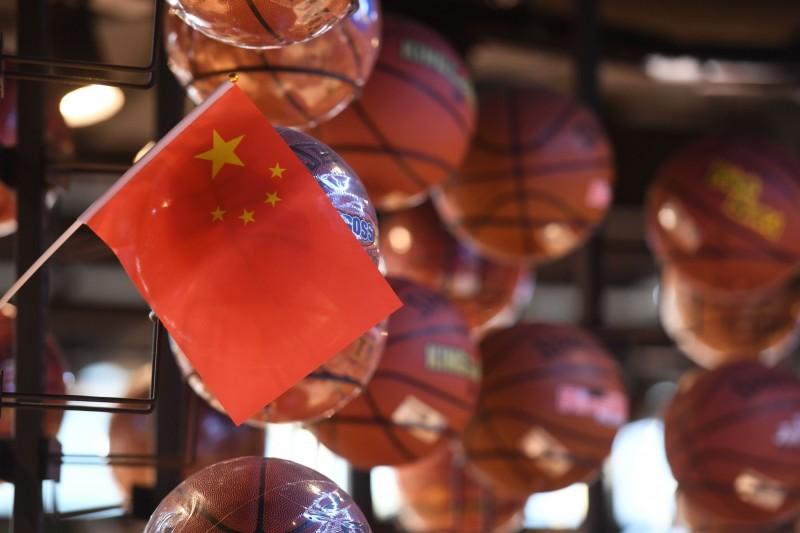 中國當局曾3度下令停播NBA賽事。(法新社)