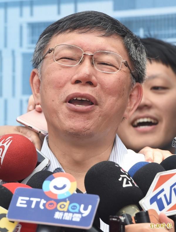 台北市長柯文哲與李登輝會面被周玉蔻認為是踩對岸紅線,柯P對此回應:「周玉蔻是中國駐台代表還是怎樣?」(資料照)