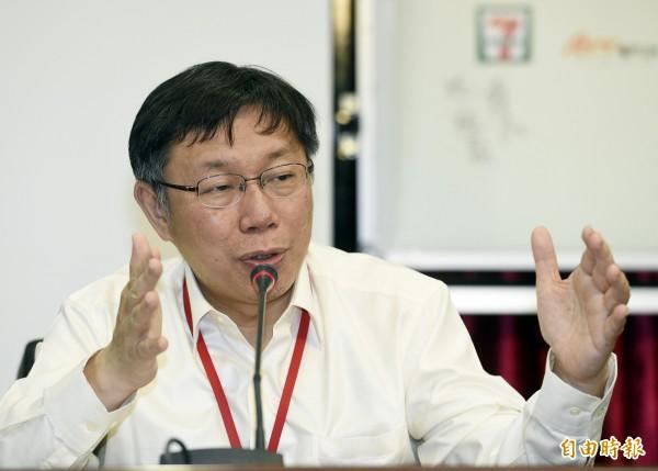 內湖區山老鼠案,台北市長柯文哲今天早上表示,懲處層級將一路向上到區公所。(記者叢昌瑾攝)