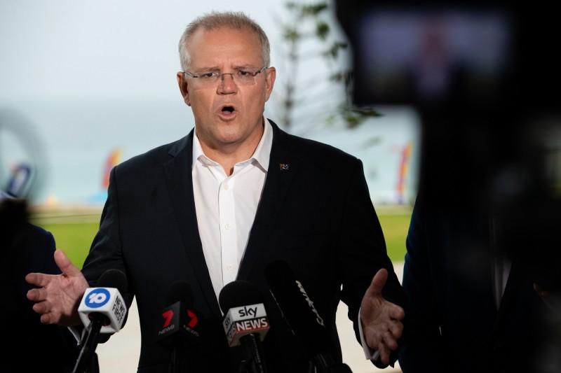 對於艾多根直接挑明「母忘加里波利之戰」,澳洲總理莫里森(見圖)認為極具侮辱性,已召見土國駐澳洲大使以示抗議。(歐新社)