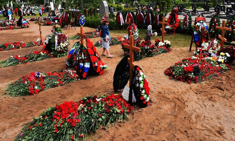 俄核潛艇失事致14軍官罹難,當局低調舉行喪禮。(法新社)
