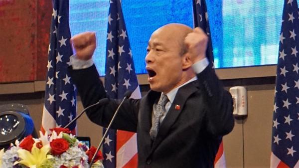 韓國瑜上任以來負債持續暴增。(中央社)