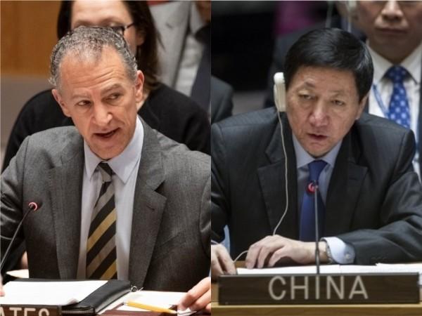 美國駐聯合國代理大使柯恩(Jonathan Cohen,左)和中國駐聯合國副大使吳海濤(右)。(圖擷取自美國駐聯合國代表團、中國駐聯合國代表團官網)