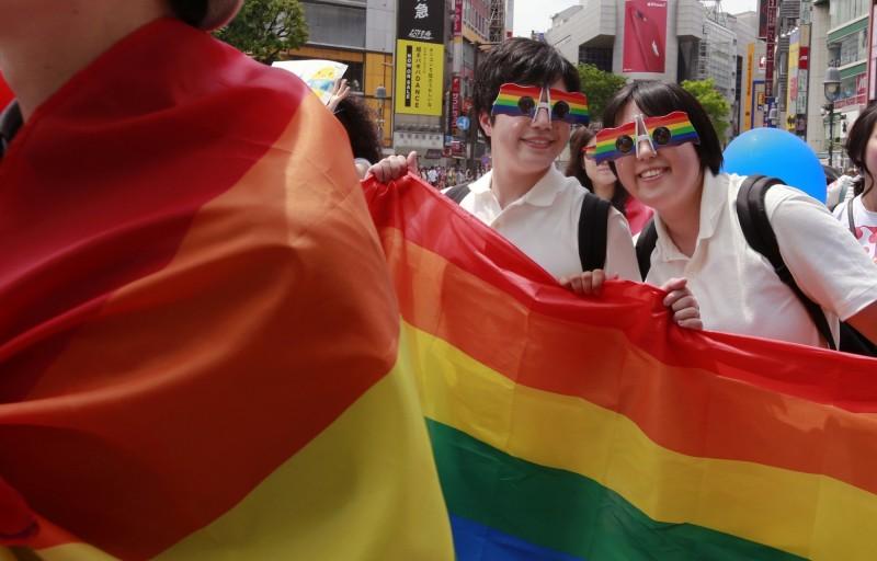 日本不承認同性婚姻,所以台灣男子無法獲得「日本人配偶」的在留資格,而在非法滯日25年。(美聯社)