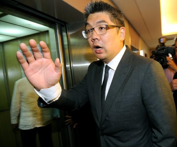 台北市長參選人、連戰之子連勝文在座談會指出鄭成功曾到台北,遭學者糾正。(資料照,記者方賓照攝)
