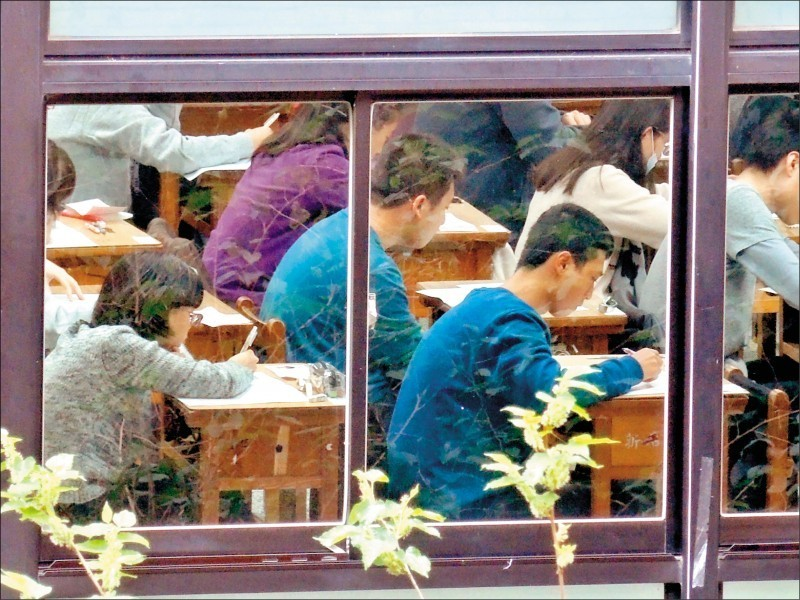 大學學測建中考場今年發生同名同姓考生同試場,坐錯位事件。(資料照)