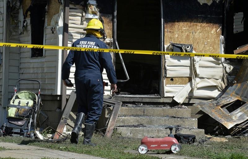 美國賓州一處民宅於,當地時間11日凌晨1時15分許(台灣時間11日下午1時15分)發生火災,有5名幼童在火場內被燒死。(美聯社)