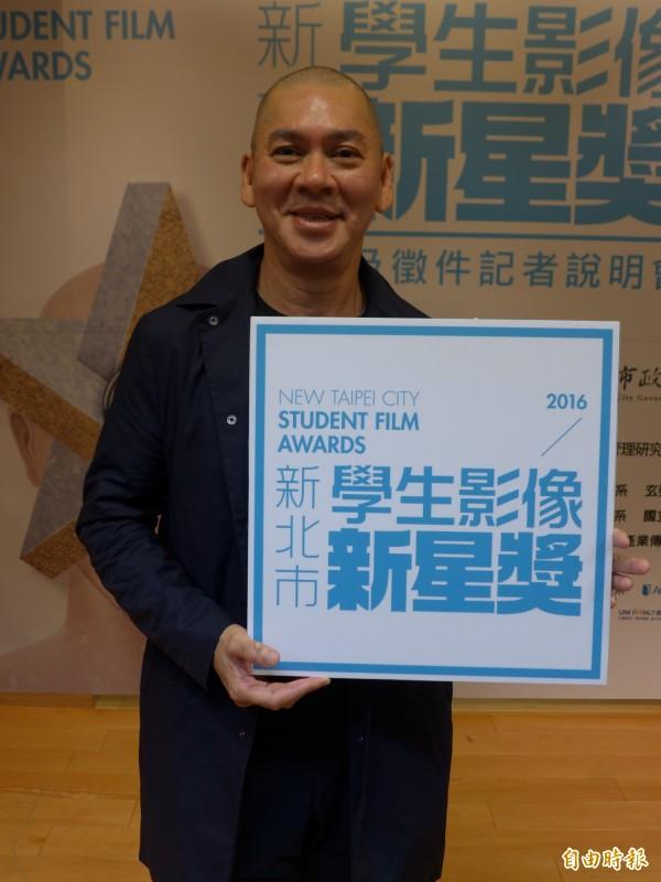 導演蔡明亮是首屆「新北市學生影像新星獎」代言人。(記者李雅雯攝)