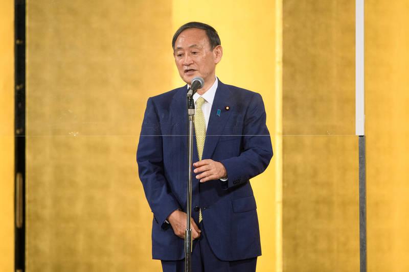 「令和歐吉桑」菅義偉贏得自民黨內大選,將在16日就任日本首相。(彭博)