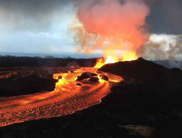夏威夷火山造成當地財損。(USGS)