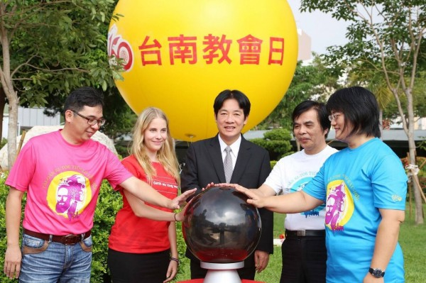 台南市長賴清德今天為長老教會宣傳第一屆「教會日」活動,希望大家共襄盛舉。(圖擷取自賴清德臉書)