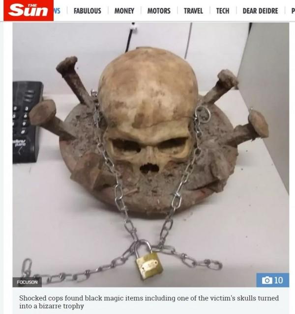 前巴西驚傳3名崇拜黑魔法的男子,為了獲得神秘的強大力量、中樂透跟吸引異性的能力,竟殘殺多人舉行召喚撒旦的儀式;目前巴西警方只確定他們至少殺了3男1女,懷疑還有更多的受害人。(圖擷取自《太陽報》)