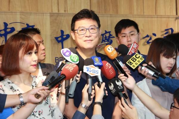 姚文智今天在廣播節目上說,「我只要選輸了,就退出政壇」。(姚文智競選辦公室提供)