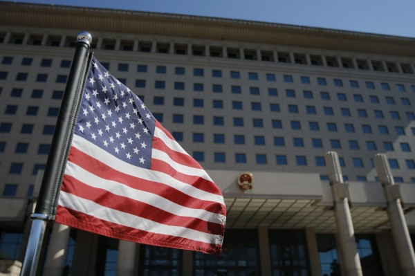 美國至少已撤離11名駐中外館人員。(歐新社)