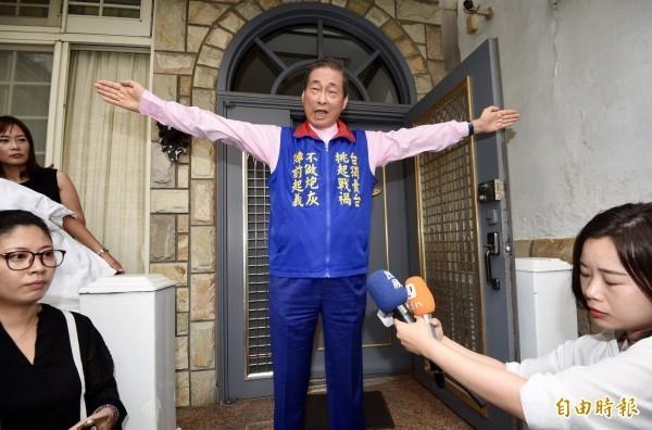 中華統一促進黨總裁「白狼」張安樂。(資料照)