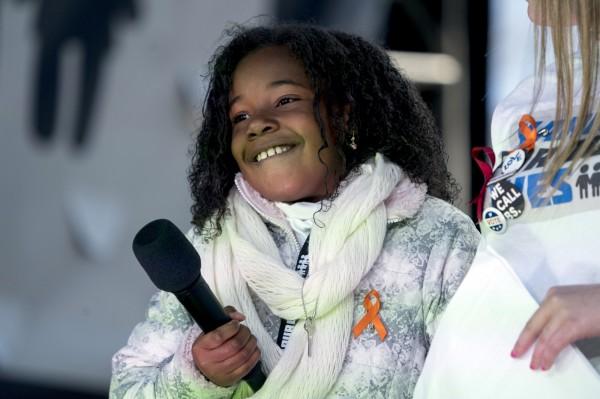 亞當預言,非裔人權運動領袖馬丁路德金恩博士的孫女尤蘭達(Yolanda Renee King)在2030年將擔任美國總統,而目前尤蘭達只有9歲。(美聯社資料照)