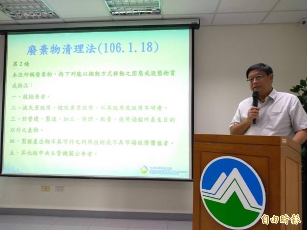 蘇內閣環保署長確定由副署長張子敬升任,張子敬表示,並未想過擔任環保署長,但被蘇貞昌院長感動決定接下職務。(資料照)