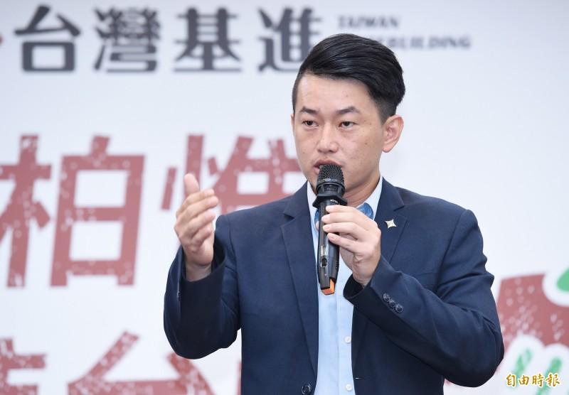 台灣基進發言人陳柏惟將挑戰台中市立委,對手為國民黨立委顏寬恒。(資料照)