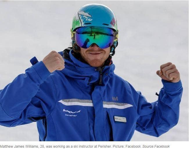 英國29歲滑雪教練馬修(Matthew Williams)2018年在澳洲某滑雪場旁尾隨攻擊一對正要從酒吧離開的情侶,他先將男方痛扁一頓後,再把女方打倒在地性侵。(取自網路)