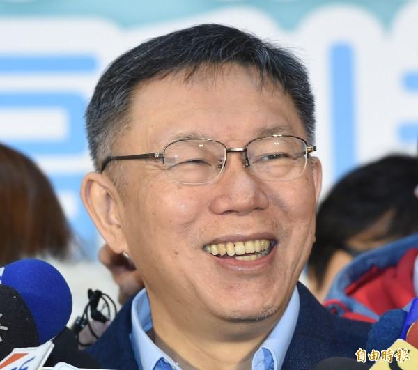 台北市長柯文哲迴避蔡英文總統提問的「台灣價值」,卻在歐洲議會演講時暢談「台北價值」。(資料照)