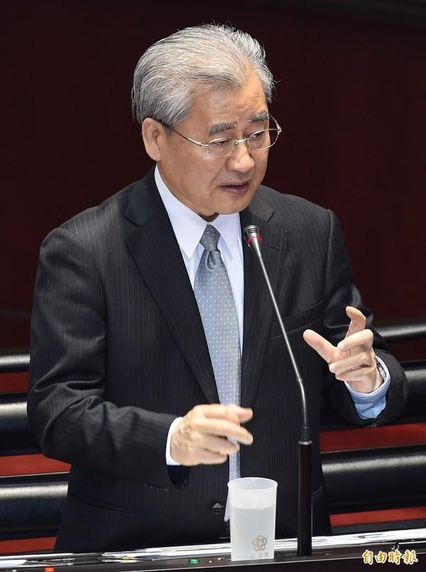 行政院長毛治國31日在立法院接受院會總質詢時,對於台灣以何種名稱加入亞投行,僅回應:「中華民國會是最好選項。」(記者廖振輝攝)