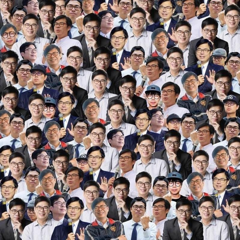陳其邁IG仿效全球知名繪本,製作一張「藍亦明在哪裡?」的插圖,引起網友熱議。(圖擷取自陳其邁IG)