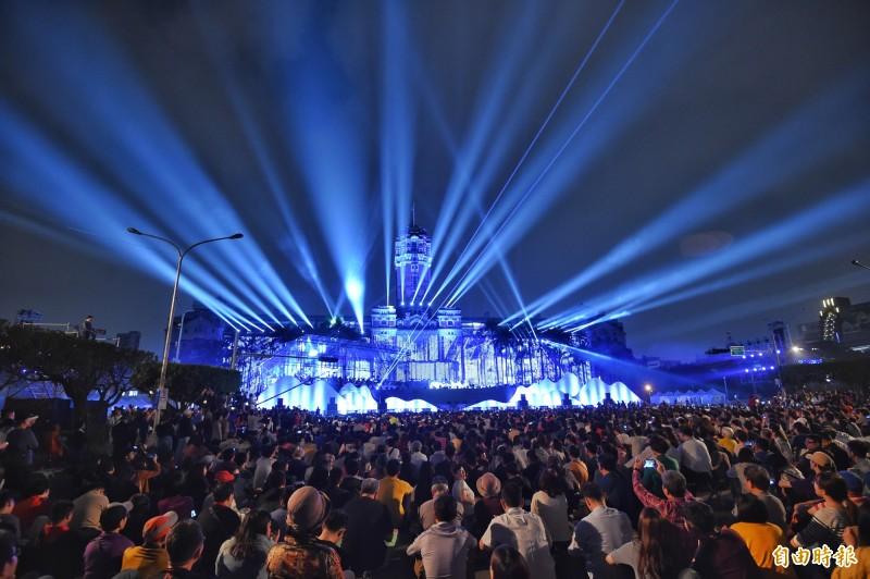 2019年總統府音樂會6日晚間7時在凱道登場。(記者劉信德攝)