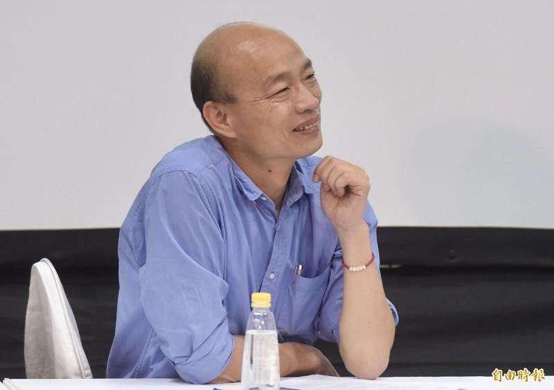高雄市長韓國瑜20日自爆座車可能被「國家機器」裝追蹤器,引起軒然大波。(資料照)