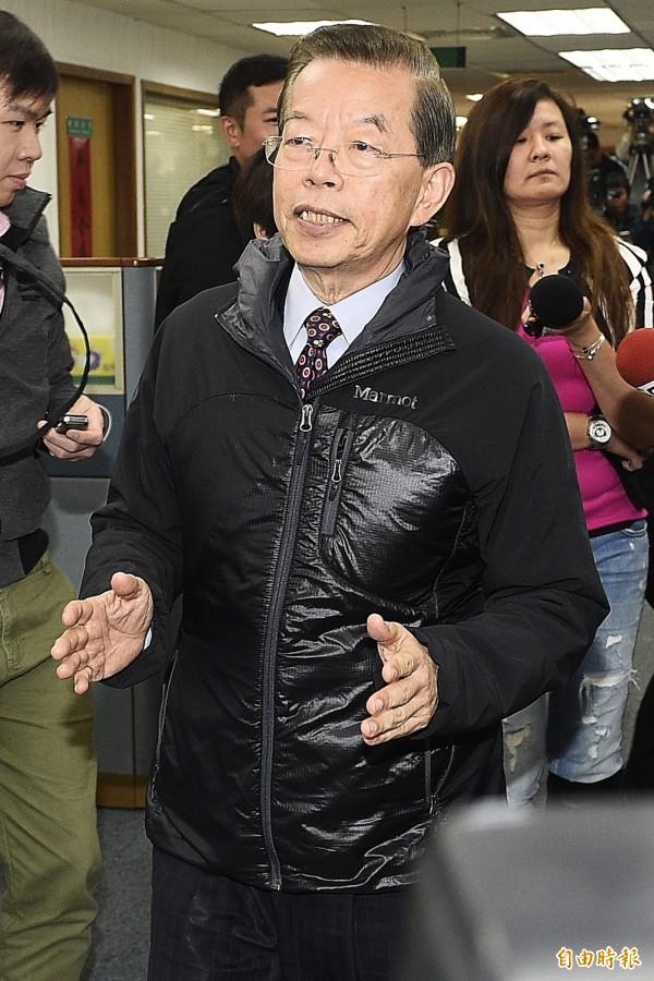 前行政院長謝長廷表示,如果中方的行為合法,「那馬英九在抗議甚麼?」(資料照,記者陳志曲攝)