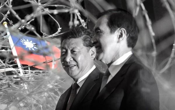 海外學生生明中表示,馬英九在缺乏社會普遍共識與民意授權基礎下,逕自進行重大外交行為,罔顧民意,傷害台灣民主。(本報合成)