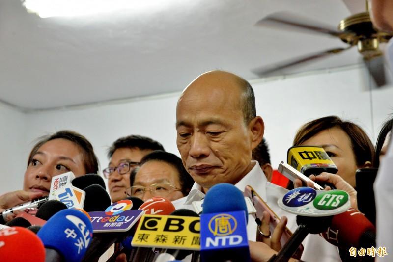 國民黨總統參選人韓國瑜昨(18)會見美國在台協會(AIT)主席莫健後,下午突宣布取消訪美行程,原因是選舉行程太滿,時間壓力大。(資料照)