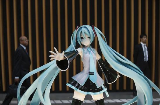 日本著名的虛擬女性歌手「初音」獲得第八名。(圖片擷取自《時代雜誌》網站)