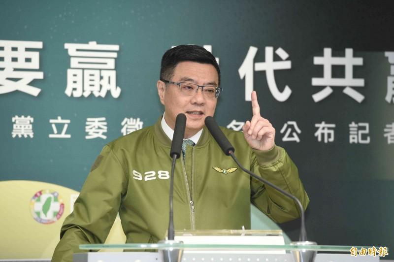 進黨主席卓榮泰今天接受電視專訪談及,台北市立委目標訂在5席到6席。(資料照)