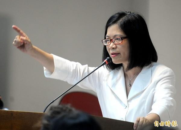 民進黨立委管碧玲一次就認購5千度綠電。(資料照,記者王敏為攝)