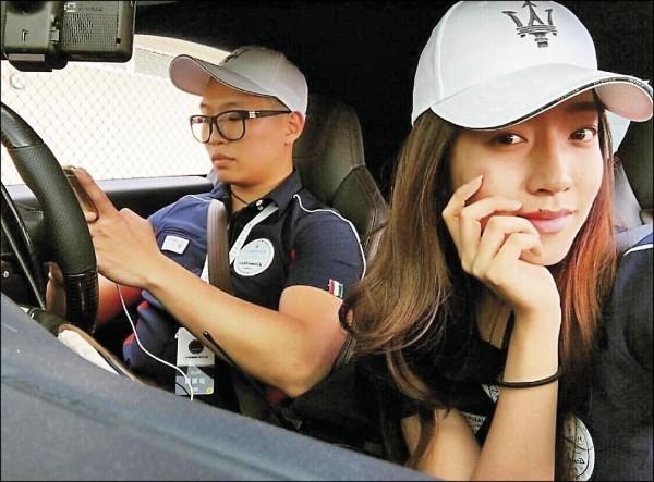 游瀚甯和女友劉映采過去常在臉書上放閃照。(取自臉書)
