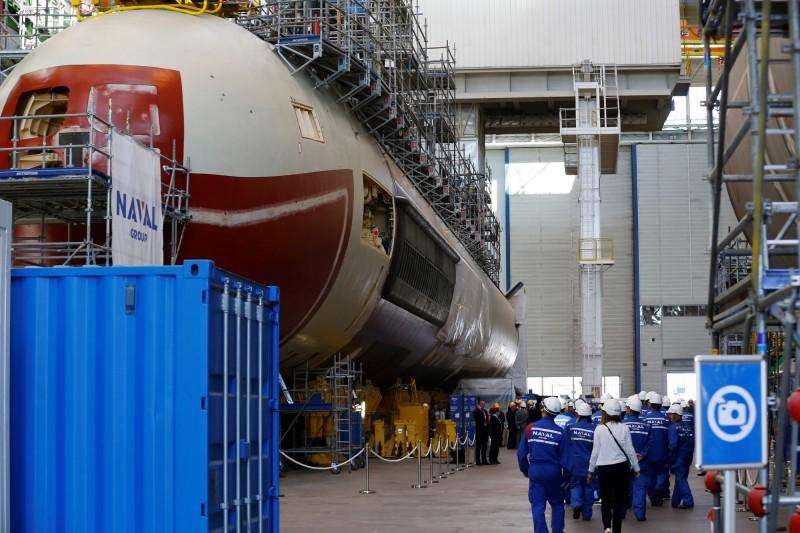 澳洲與法國訂購12艘新一代潛艦,被認為可能用於在南海圍堵中國。(法新社)