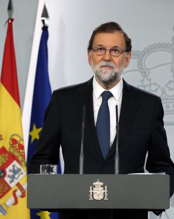西班牙總理拉霍伊(Mariano Rajoy)稱公投沒有辦成。(歐新社)