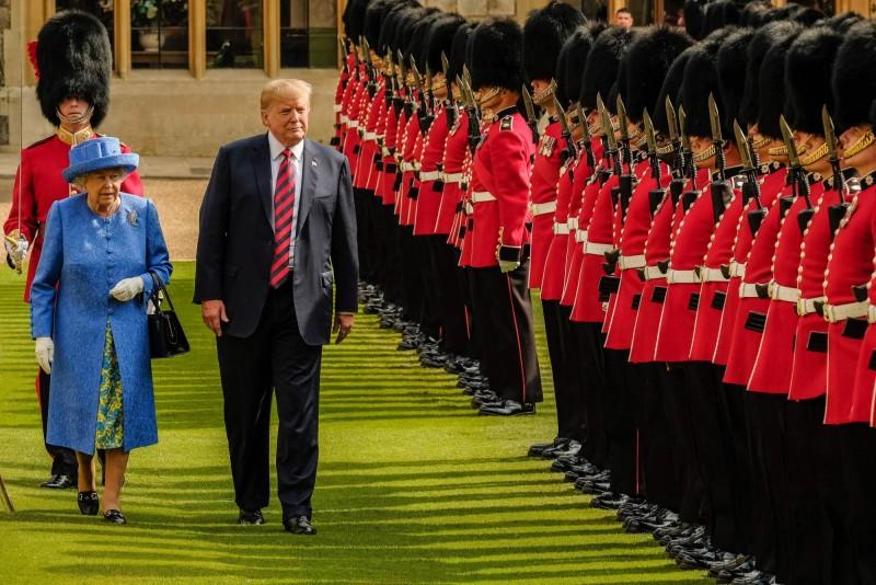 英國白金漢宮今(23)日宣布,美國總統川普將於6月赴英國進行3天的國是訪問。(歐新社資料照)